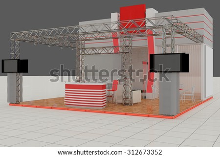 Exhibition Stand Reception Desk : Exhibition stand advertising stand hall interior stock