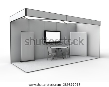 Exhibition Stall Mockup : Exhibition stand mock 3 d render stock illustration 389899018