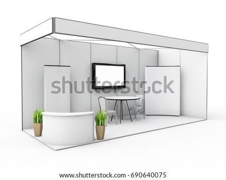 Exhibition Stand Mockup : Exhibition stand mock up d illustraton stock illustration
