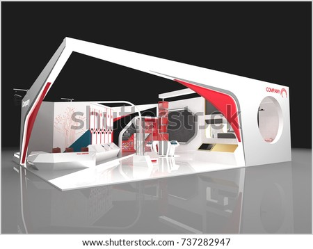 Modern Exhibition Stand Near Me : Exhibition stand modern design used mockups stock illustration