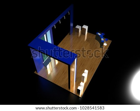 Exhibition D Model Free : Royalty free stock illustration of exhibition stand on black
