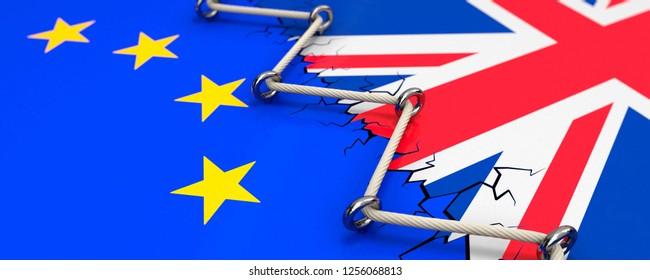 Exit Brexit 3D Illustration