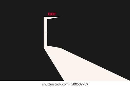 Exit. Opening door
