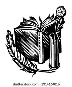 Exlibris, emblem, symbol, sign - writer, poet, writer, publicist.Peno, paper, ink