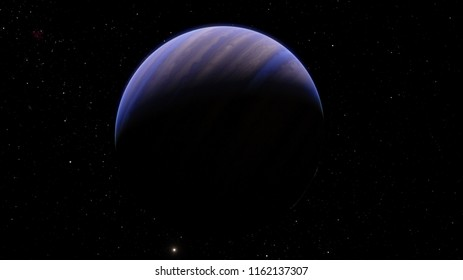 Exoplanet gas giant warm Jupiter 3D illustration (Elements of this image furnished by NASA)