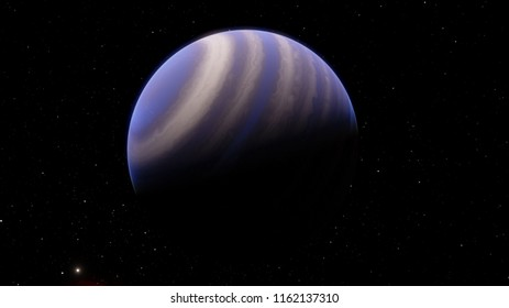 Exoplanet gas giant warm Jupiter 3D illustration (Elements of this image furnished by NASA)
