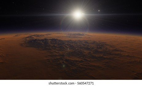 Exoplanet Mars 3D illustration (Elements of this image furnished by NASA)