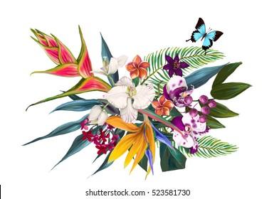 exotic floral composition