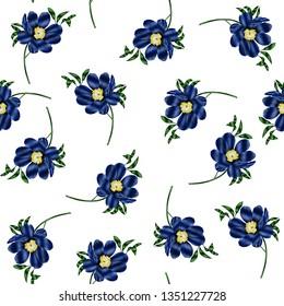 Exotic flowers pattern, jungle print design. Pattern for summer designs. Fashion trended botanical white background. Vibrant Hi Quality botanical artwork.
