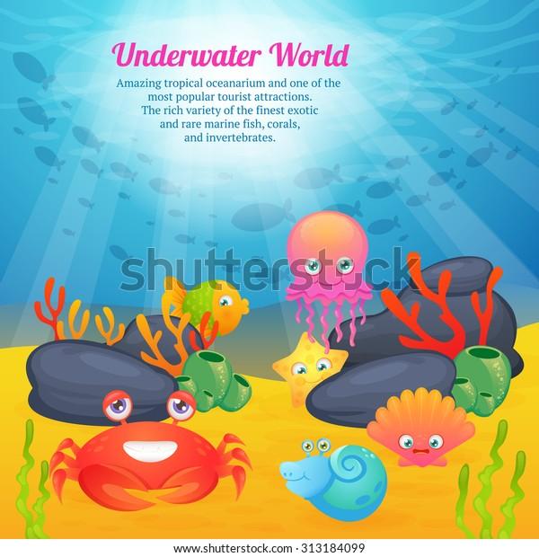 Poster Tropical Underwater World