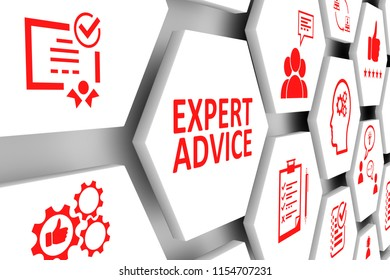 EXPERT ADVICE concept cell background 3d illustration