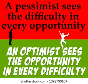 explaining the difference between an optimist and a pessimist