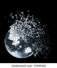 Exploding disco ball