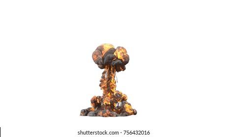 explosion. 3d rendering