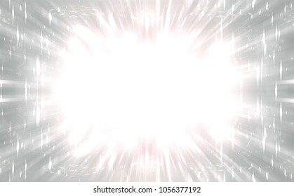 Explosion background silver illustration.