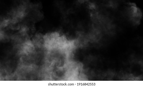 Explosion chemistry smoke bomb on isolated background. Freezing dry fog bombs texture overlays. Stock illustration.