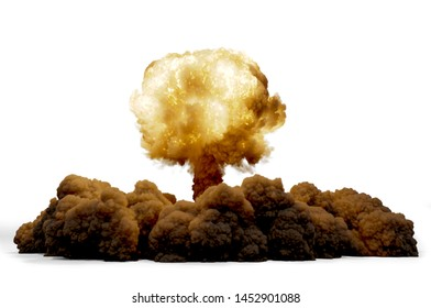 Explosion nuclear bomb, 3D rendering