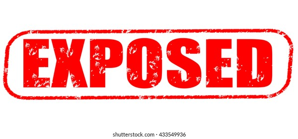 exposed stamp on white background.
