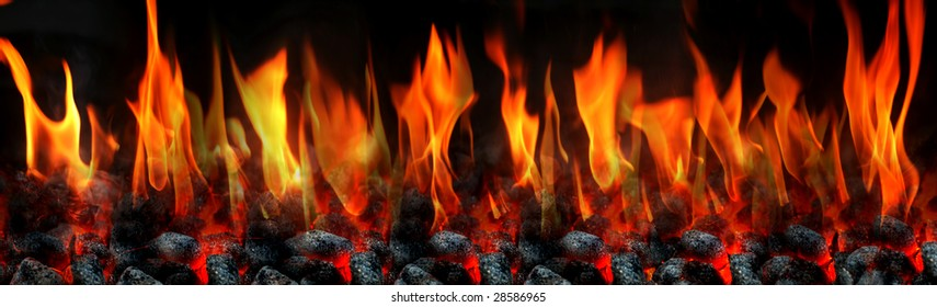 Extra large fire flame composition