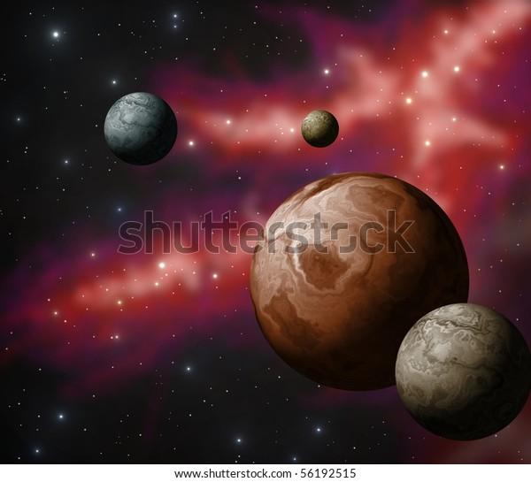 extrasolar-planet-system-600w-56192515.j