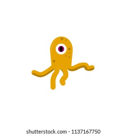 extraterrestrial creature colored icon. Element of UFO icon for mobile concept and web apps. Colored extraterrestrial creature icon can be used for web and mobile. Premium icon on white background