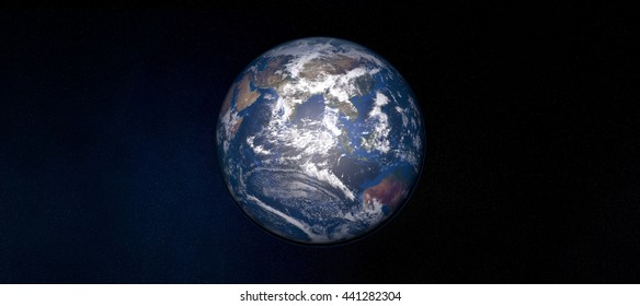 Extremely detailed 3D image of earth with centered perspective - taken from space with focus on Asia Elements of this image are furnished by NASA.
