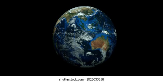 Extremely detailed and realistic high resolution 3D image of a hurricane. Shot from space. Elements of this image have been furnished by Nasa.