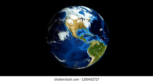 Extremely detailed and realistic high resolution 3D image of a Hurricane. Shot from Space. Elements of this image are furnished by Nasa.