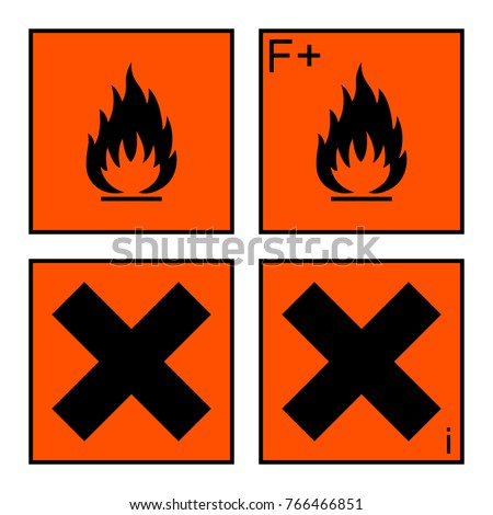 Extremely Flammable Harmful Sign Symbol On Stock Illustration