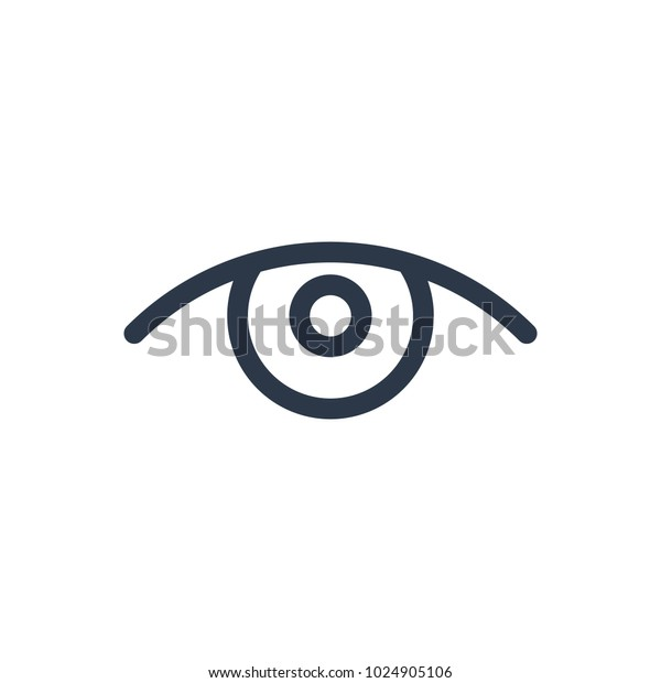 Eye Icon Isolated See Eye Icon Stock Illustration 1024905106