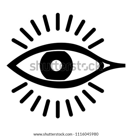 Eye Icon Simple Illustration Eye Icon Stock Illustration 1116045980