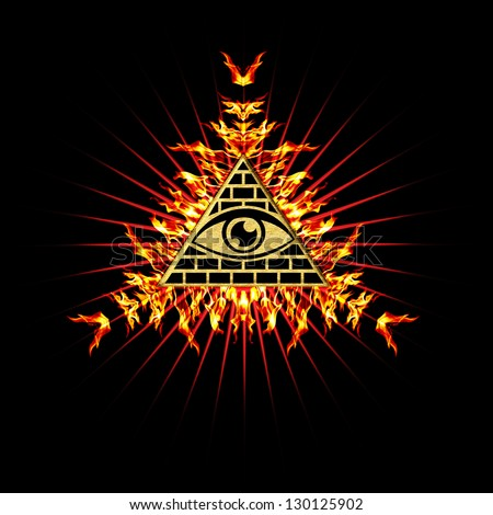 Eye Providence Fire All Seeing Eye Stock Illustration Royalty Free