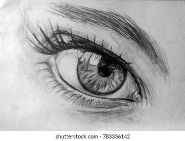 EYE  Realistic drawing of beautiful woman eye