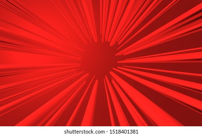 The eye of red lighthing