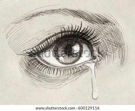 eye tearのイラスト素材 600129116 shutterstock