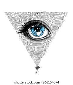 Eyes illustration.T-shirt Graphics