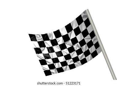 A F1 flag with checkered pattern