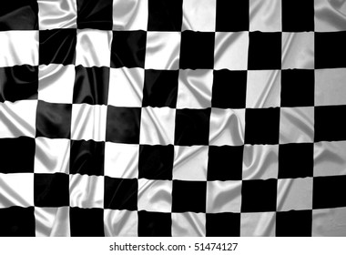 A F1 flag with checkered pattern.
