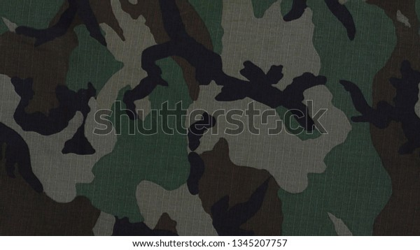 Fabric Camouflage Material Texture Background Stock