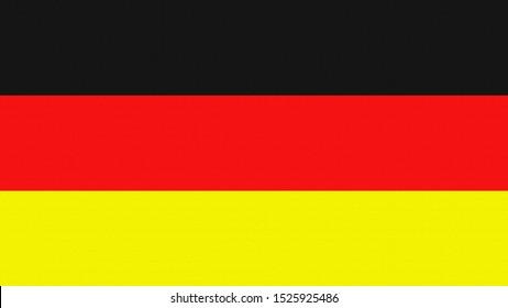 fabric flag of german illustration