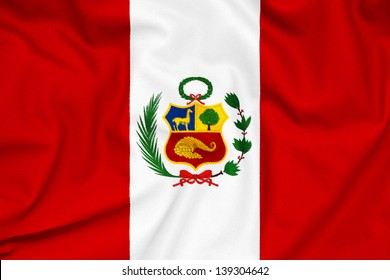 Fabric texture of the Peru flag