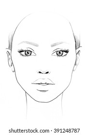 Face chart images stock photos vectors shutterstock face chart makeup artist blank template maxwellsz