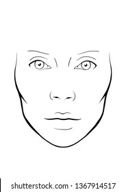 face chart model muah makeup eyes face lips nose