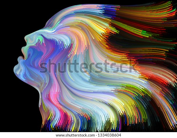 Face Color Series Abstract Design Made Stock Illustration