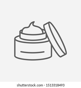 Face cream icon line symbol. Isolated illustration of icon sign concept for your web site mobile app logo UI design.