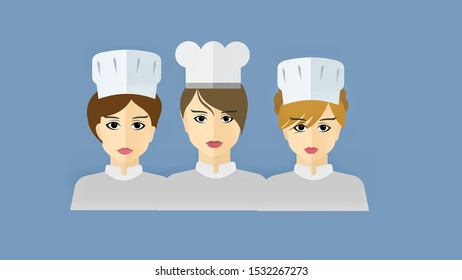 The face of a female chef