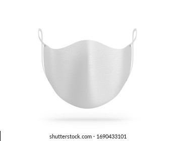 Face Mask mockup front view isolated on white, 3d rendering
