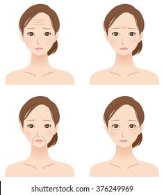 "face of women ""Increasing age"""