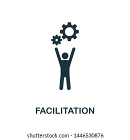 Facilitation icon illustration. Creative sign from agile icons collection. Filled flat Facilitation icon for computer and mobile. Symbol, logo graphics.