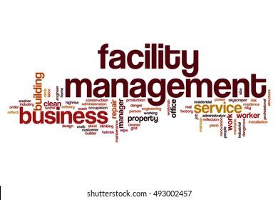 Facility management word cloud concept